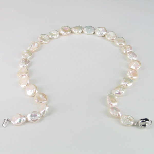 Keshi Pearl 'Summer' Necklace 12-15mm With Sterling Silver