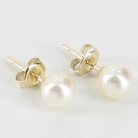 8cbdd00ed Classic Freshwater Pearl Studs Earrings 5.5-6mm On 9K Yellow Gold -  Absolute Pearls