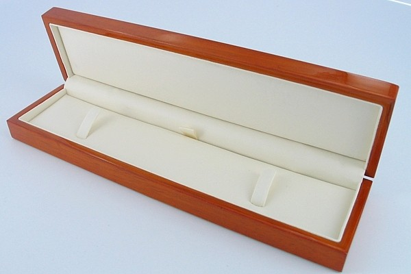 Necklace Or Bracelet Natural Grain Hardwood Presentation Case