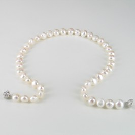 Pearl 'Party' Necklace With Baroque Pearls And Glitterball Clasp