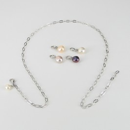 Your Pearls Your Way Pearl Necklace Baroque on Sterling Silver