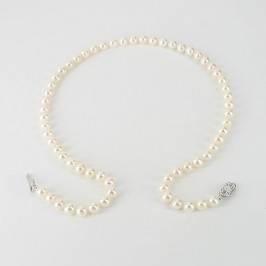 White Freshwater Pearl Necklace 6.5-7mm With Sterling Silver