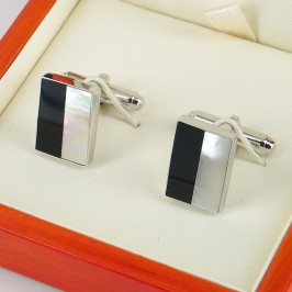 Mother of Pearl Cufflinks On Sterling Silver