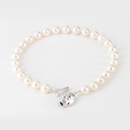 White 6-6.5mm Akoya Pearl Bracelet With 9K White Gold
