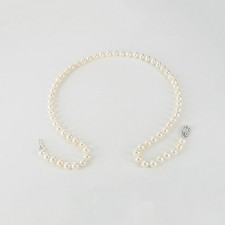 Single Strand Freshwater Pearl Necklace 6-6.5mm With Sterling Silver