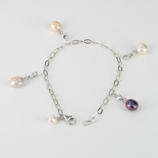 Your Pearls Your Way Baroque Pearl Bracelet on Sterling Silver