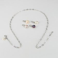 'Your Pearls Your Way' Pearl Necklace Baroque on Sterling Silver