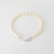 Anniversary Pearl Bracelet 7-7.5mm With A 9K White Gold Clasp