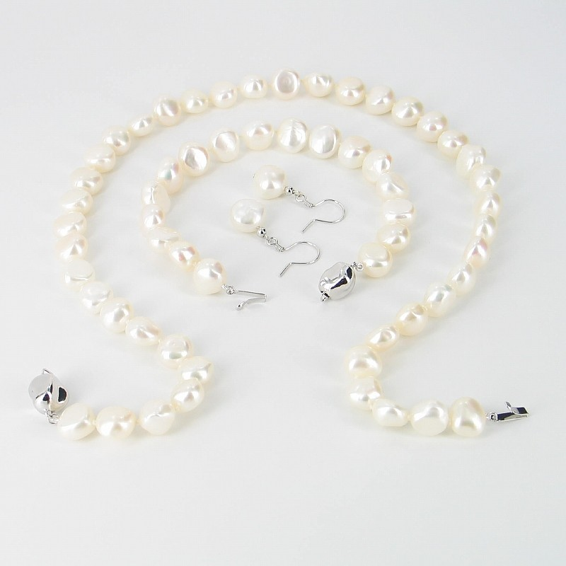 Large Baroque Pearl Necklace Set